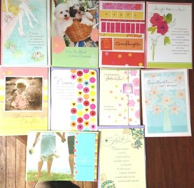 Birthday Cards In Bulk (FEMALE Assortment 10 BIRTHDAY Cards
