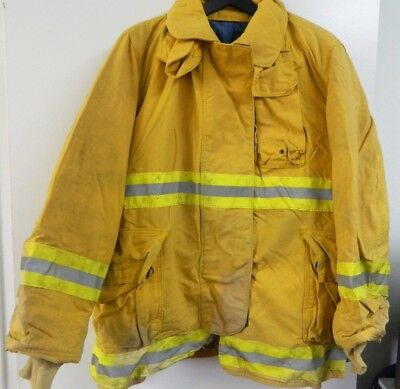 Fyrepel Firefighter Turnout Gear Bunker Padded Jacket Yellow Size X-large 2