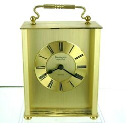 Vintage Remington Multi Quartz Carriage Clock Brass West Germany Desk Mantel