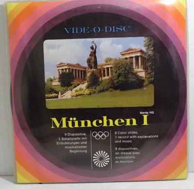 VIDE-O-DISC - München I - 9 Dia's/Color Slides + 1 Single/Record
