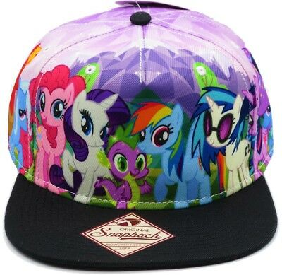 (My Little Pony Brony Friendship Is Magic Rainbow Dash Sublimated Snapback Hat)