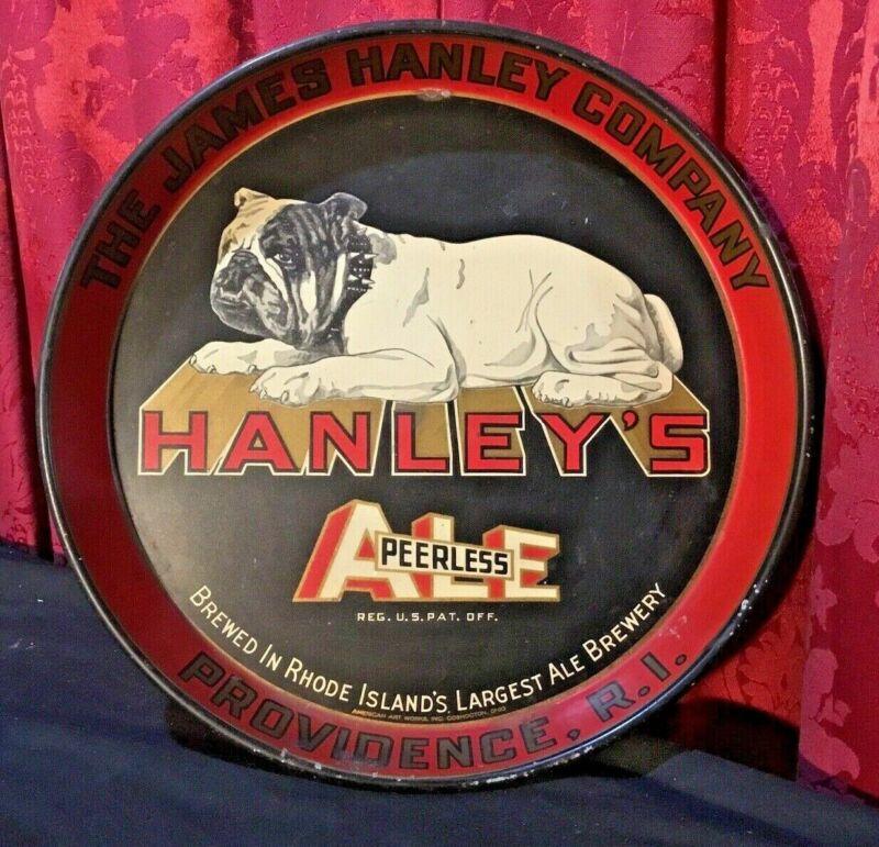VINTAGE ANTIQUE ADVERTISING BULLDOG TRAY HANLEY