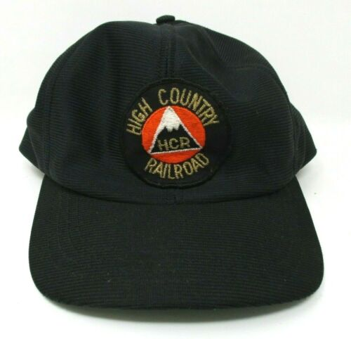 High Country Railroad HCR Vintage Hat Snapback Trucker USA made black