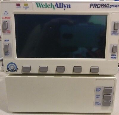 Welch Allyn Propaq Encore 206 El Option 223 W Spo2 Ecg Vital Signs Monitor Lab