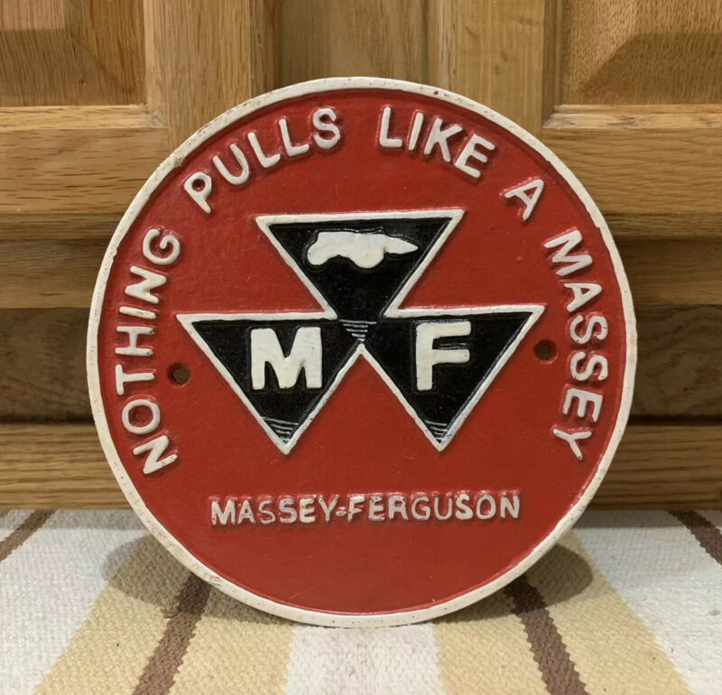 Massey Ferguson Cast Iron Tractor Sign Vintage Style Farm Barn Hay Tools Feed