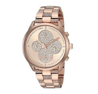 Michael Kors (Mk6553) Slater Chronograph Glitz Pave Rose Gold Watch