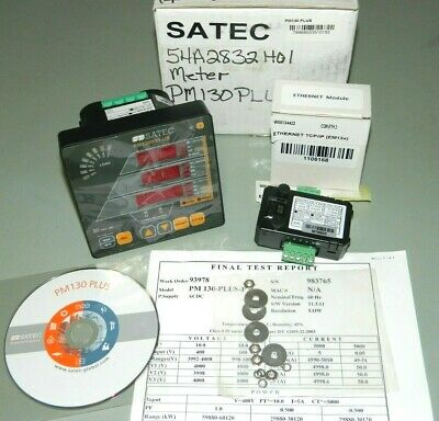 New Satec Pm130 Plus Multi-functional Power Meter With Ethernet Module
