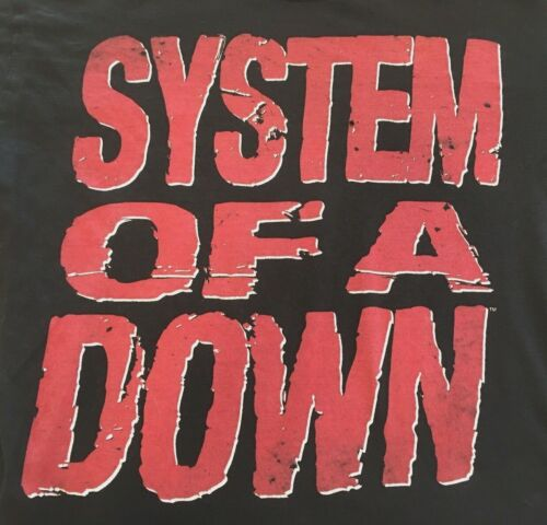 2011 System Of A Down Heavy Distressed Graphic Rock Concert T-Shirt Black Medium