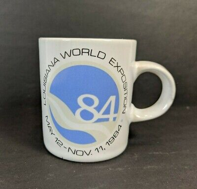 Vintage Small Espresso Coffee Cup Mug Louisiana World Fair Expo 10/12/84 1984