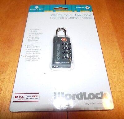 EAGLE CREEK Wordlock Model EC41182 4 Letter Travel Sentry Certified TSA Lock NEW ()