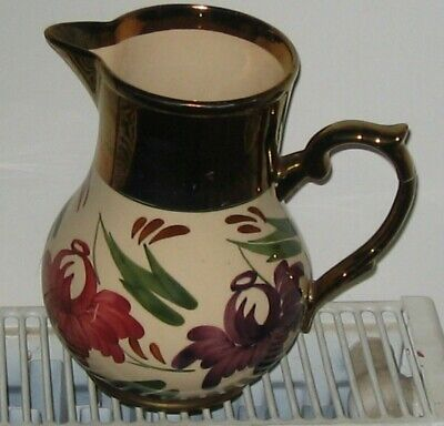 Wade Heath Gold Copper Lustre Jug for sale  Shipping to Ireland