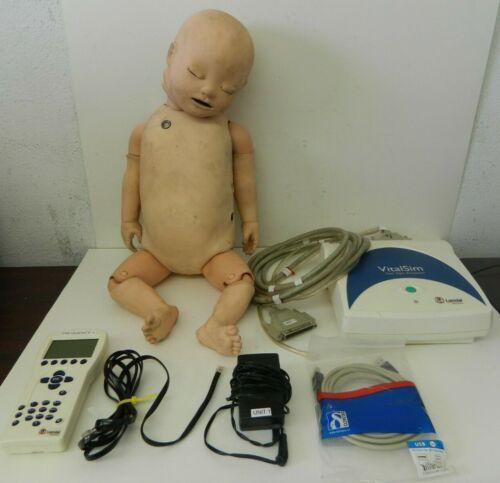 Laerdal VitalSim Nursing SimBaby Patient Simulator w/ Controller & Accessories