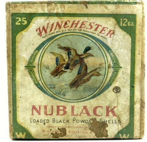 Winchester Nublack Paper Shotshells 12 Ga EMPTY 2 Piece Ammo Box 5708-MXX