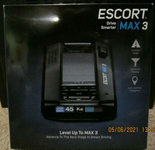 Brand New Open Box Escort Max 3 Laser Radar Detector Enhanced Range Bluetooth