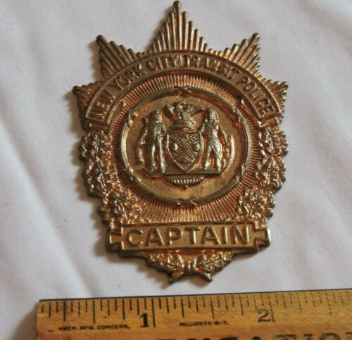 Rare 1940 New York City Subway Transit Captain Badge NYC