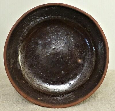 Vintage Marbled Slipware Redware Pottery Williamsburg Restoration 1995 Pottery EACH Pie PlateBowl Serving Home Kitchen Decor Collectible