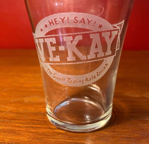 Ve-Kay 1900s Kola Drink Etched Logo Bell-Shaped Soda Beverage Glass