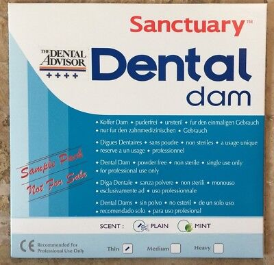 Free Sample Pack 3pk -sanctuary Dental Rubber Dam Latex 5x5 Thin Blue Wholesale
