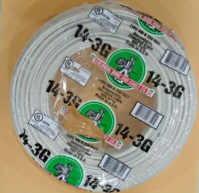 143 Romex 250 14-3 Awg Gauge Nm-b Indoor Copper Electrical Wire Roll Cable