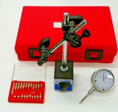 3 Pc Inspection Set Mag Base Dial Indicator Point Set W Storage Case Xs001