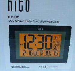 Hito 9.5 LCD Atomic Desk Alarm Digital Wall Travel Clock