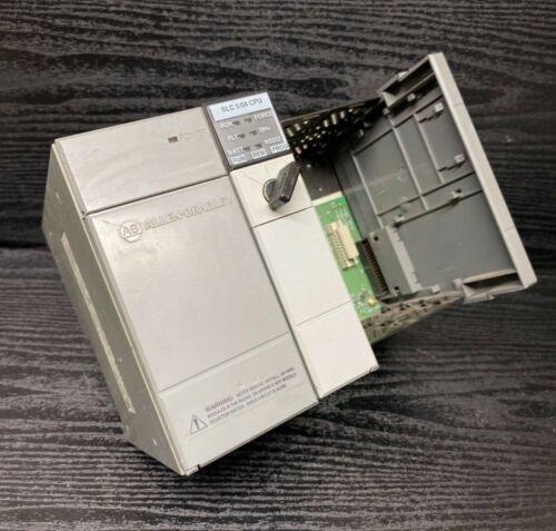 Allen Bradley 1746-P1 1746-A4 1747-L542 Ser B SLC 500 4 Slot Rack 5/04 CPU