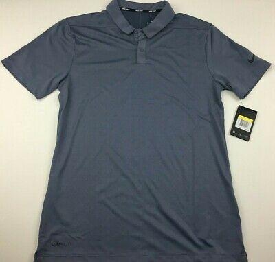 Nike Golf Dri-Fit Breathe Texture Polo Shirt Gray Mens Small Golfing Apparel NWT