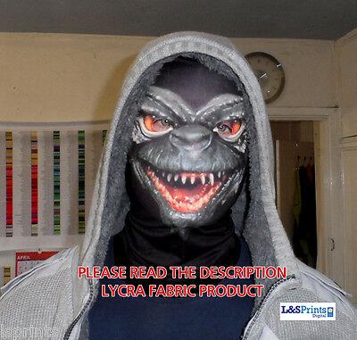 Gremlin Design Gruselig Halloween das Gesicht Bedeckend Maske Kostüm Stoff Lycra