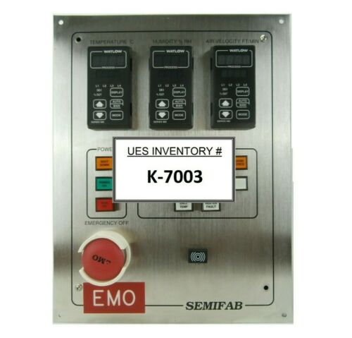 Semifab Environmental Control Panel RAM 2000/480/SVG Watlow 986 SVG 90S Working