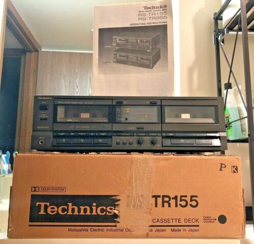 Technics RS-TR155 Dual Cassette Tape Recorder - NEAR MINT CONDITION!