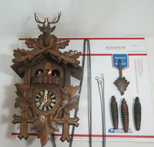 Germany Black Forest Cuckoo Clock Buck Deer Stag