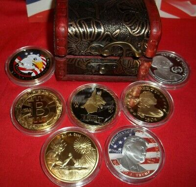 Best Lot: 7 Commemorative Art-Rounds Gold & Silver Plated ~ In free Treasure (Best Plated Rounds)