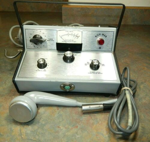 Rich-Mar IV 4 Ultrasound Therapy Apparatus + Probe Vintage RICHMAR Ultra Sound