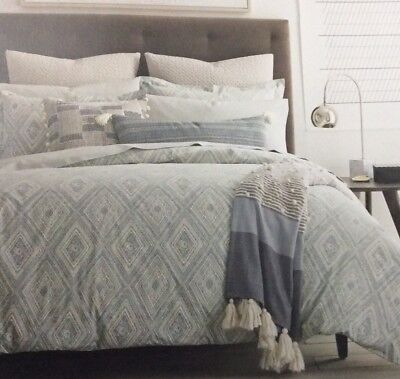 Dwell Studio Home Caspiane Azure Full / Queen Duvet Comforter Cover