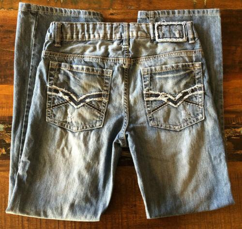 Helix Boys Slim Boot Factory Distressed Adjustable Waist Size 18