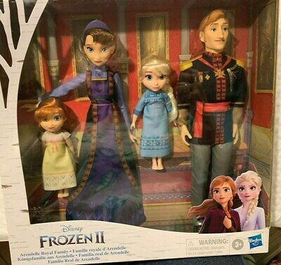 DISNEY FROZEN 2 ARENDELLE ROYAL FAMILY EXCLUSIVE DOLL SET OF 4 DOLLS ANNA ELSA