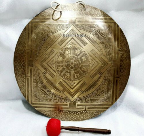 Special 24 inches Mandala engrave Tibetan Gong-handmade gong-temple gong Nepal