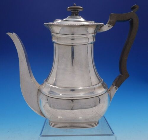 William Hutton & Sons Estate English Silver Tea Pot with Wood Handle (#4249)