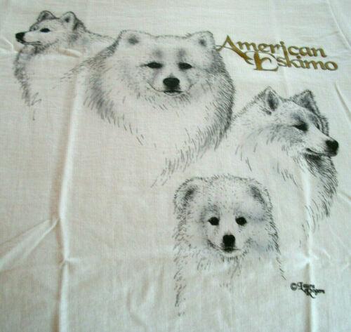 """American Eskimo Spitz T-shirt  """" White """" SM ( 34 ~ 36 )"""