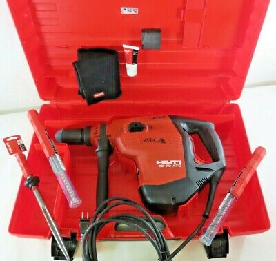 New Hilti 120-volt Te 70-atc Avr Corded Rotary Industrial Hammer Drill Kit Sds