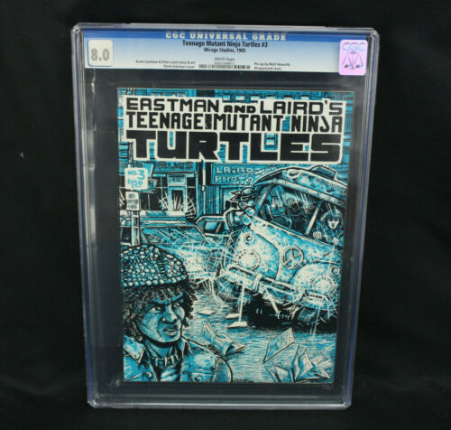 Teenage Mutant Ninja Turtles #3 1985 Mirage Studios TMNT Comic CGC Graded 8.0 VF