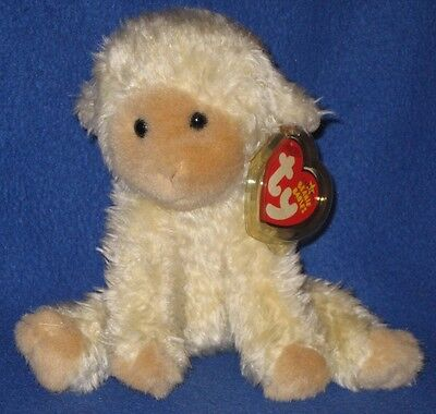 TY MEEKINS  the LAMB BEANIE BABY - MINT with MINT TAGS