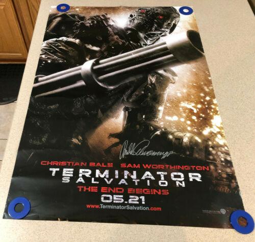Arnold Schwarzenegger Signed Terminator Salvation DS 27x40 Poster Autograph Auto