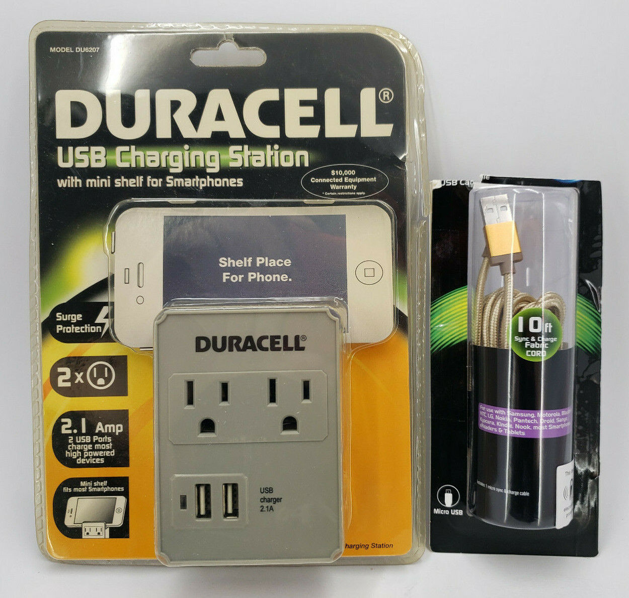 Duracell Dual Surge USB Charger Outlet for iPhone 3G/3GS/4/4