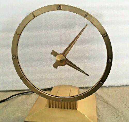 Working Jefferson Golden Hour Mystery Vintage Mid-Century Modern Clock 580-101