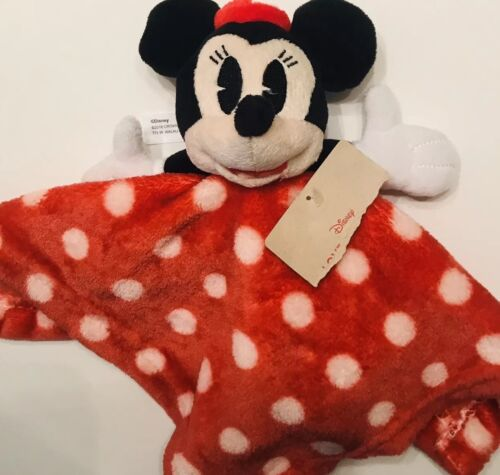 mickey mouse baby blanket lovey red polka