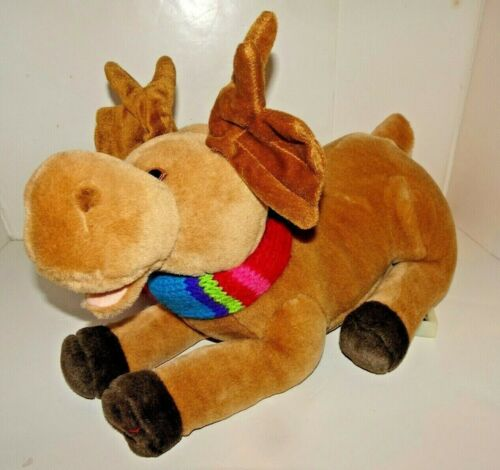 SINGING ANIMATED PLUSH MOOSE I Wish You a Merry Chrismoose Christmas Pre-Owned