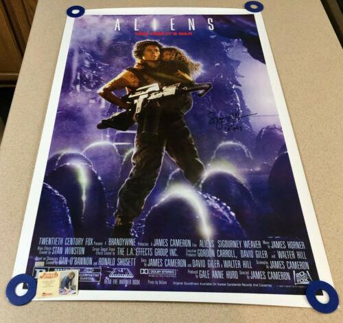 """Sigourney Weaver """"Ripley"""" Signed Aliens 26.5x38.5 Poster Auto Autograph CA COA"""