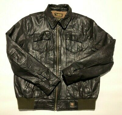 Scotch & Soda mens type G-1 leather jacket XXL, used for sale  Shipping to Ireland