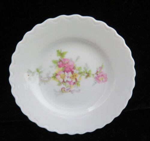 Austria Porcelain Pink Floral Butter Pat  #2